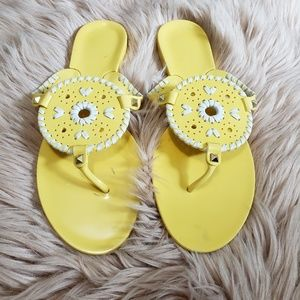 Jack Rogers yellow sandals. Size 9